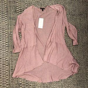 Eileen Fisher Silk Linen Blush Wrap Cardigan L